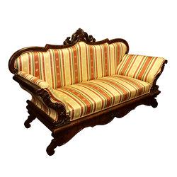 Bīdermeijera stila sarkankoka sofa