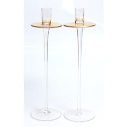 Stikla svečturi 2 gab.
