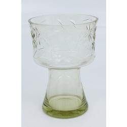 Gaiši zaļa stikla vāze