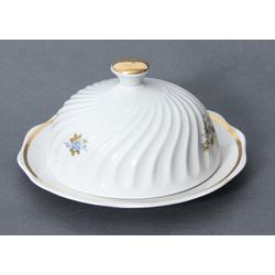 Porcelāna sviesta trauks ar vāku un zeltījumu