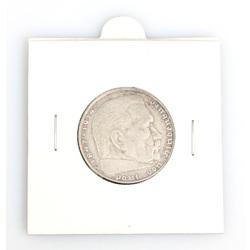 Sudraba monēta 2 Reihsmarkas
