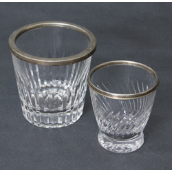 Glass glass with silver finish 2 pcs.