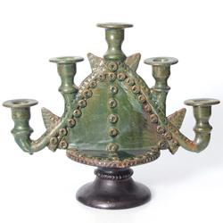 Керамический подсвечник на пять свечей