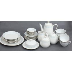 Porcelāna tējas tējas-kafijas  servīze 6 personām