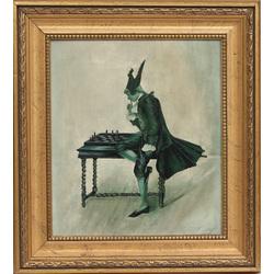 Āksts spēlē šahu