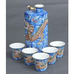 Porcelāna komplekts - Karafe ar piecām glāzītēm