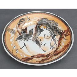 Porcelāna dekoratīvs sienas šķīvis