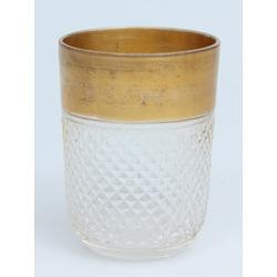 Kristāla glāze ar metāla apdari