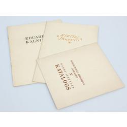 3 izstāžu katalogi - Mākslinieku biedrības