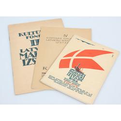 3 izstāžu katalogi - Dānijas Mākslas izstāde Rīgā, IV kopīgās Daugavpils