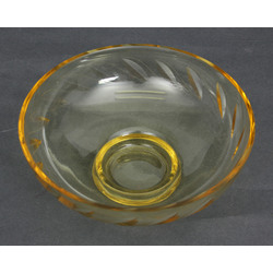 Colorful glass candy dish