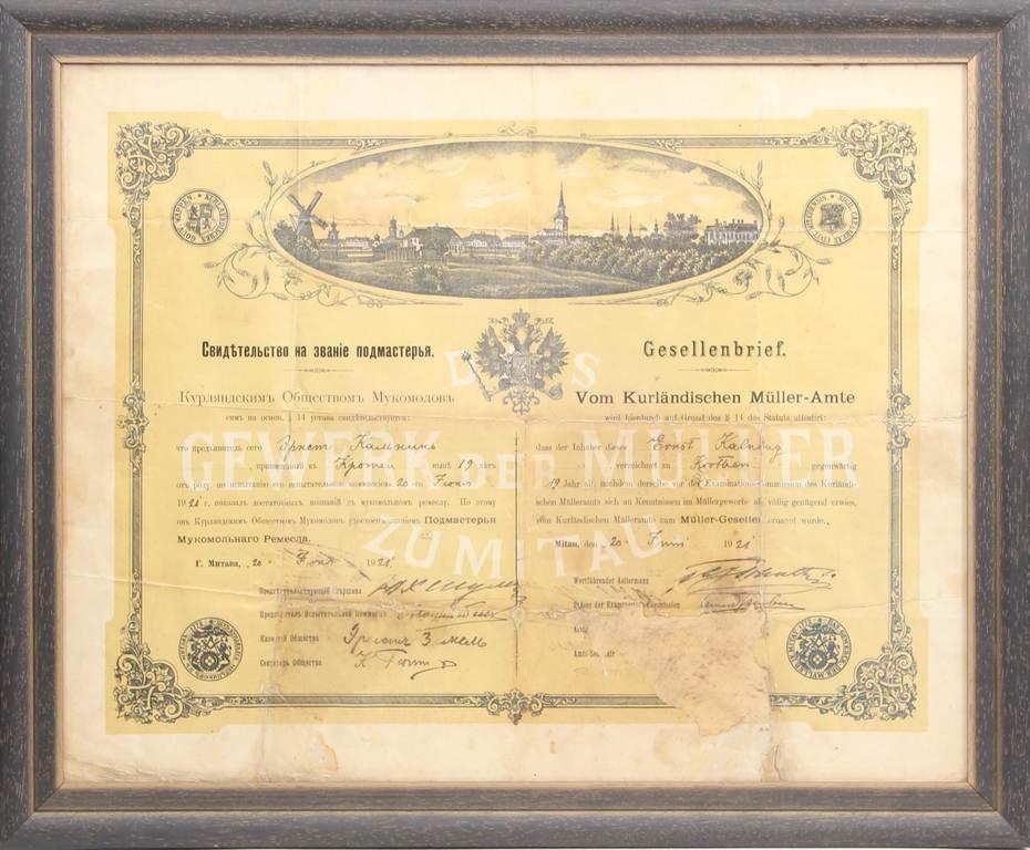 Diploms vācu un krievu valodā