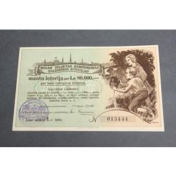 Rīgas pilsētas Sabiedriskās palīdzības komitejas mantu loterija par Ls 80.000