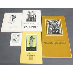 5 ex-libru albumi/brošūras - Gunārs Bērziņš, Arzte ex-libris, Latvijas PSR Mākslinieku ex-libri, Daiņa Rožkalna ex-libri, Centrālais exlibristu klubs
