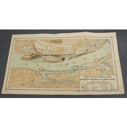 Rīgas ostas centrālās daļas karte