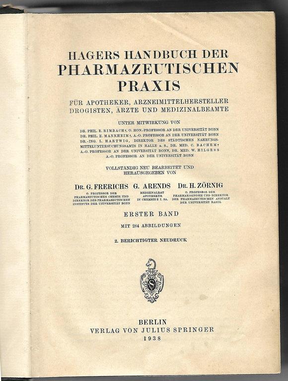 Farmācijas prakses rokas grāmata Vācu valodā (2 gab.)