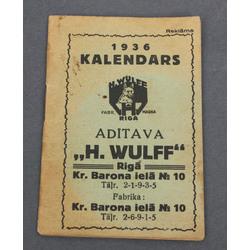 Piezīmju kalendārs 1936.gadam
