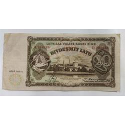 20 latu banknote, 1935