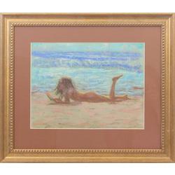 Sieviete pludmalē