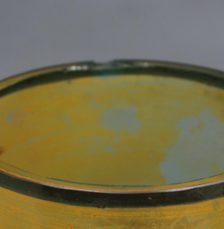 Apgleznota stikla vāze