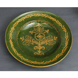 Liels dekoratīvs keramikas sienas šķīvis - Māras koks
