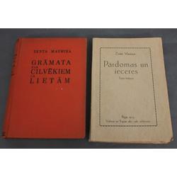 2 Zentas Mauriņas grāmatas - Pārdomas un ieceres, Grāmata par cilvēkiem un lietām