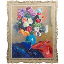Ziedi ar Drapērijām