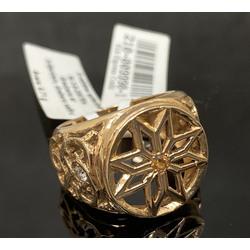 Zelta gredzens ar 2 briljantiem un safīru