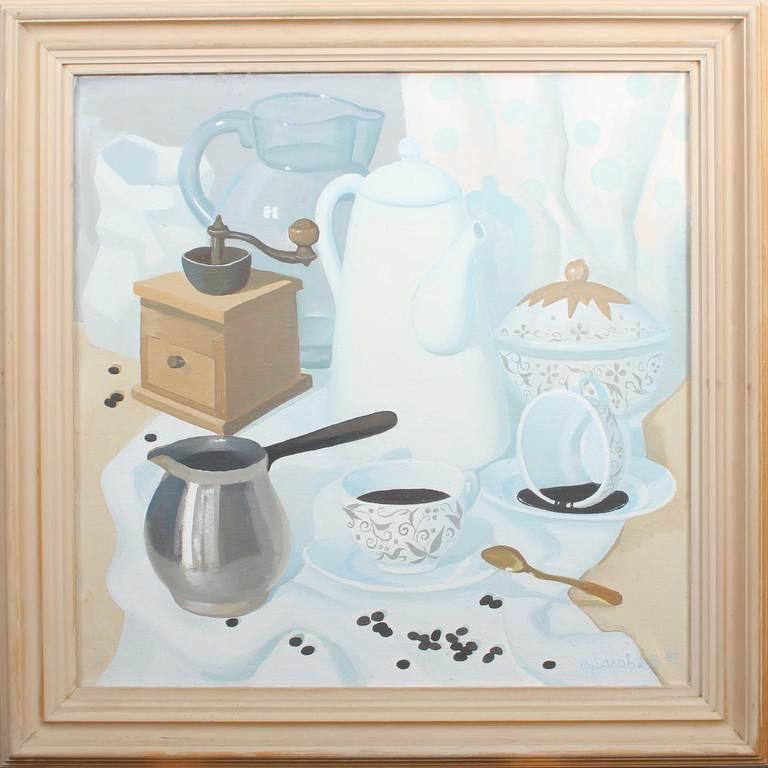 Klusā daba ar kafiju