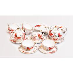Porcelain set for 6 persons