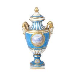 Porcelāna vāze/ urna ar gleznojumu