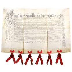 Liepas muižas īpašnieka Johana Kristofa fon Kampenhauzena (Johann Christoph von Campenhausen) Liepas muižas īpašuma maiņas dokuments