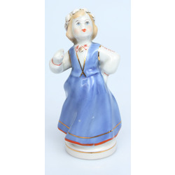 Porcelain figurine Girl in folk costume