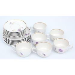 Porcelāna servīze 6 personām(nepilna)