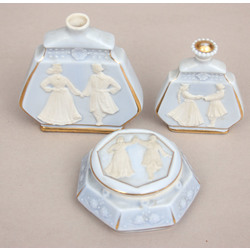 Porcelāna smaržu komplekts - smaržu pudelītes 2 gab., lādīte