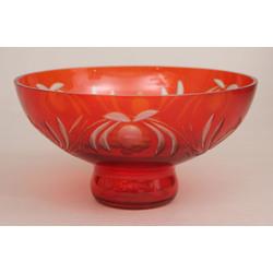 Sarkanā stikla bļoda