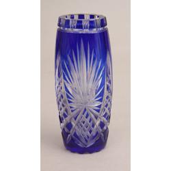 Zilā stikla vāzīte