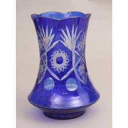 Zilā stikla vāze