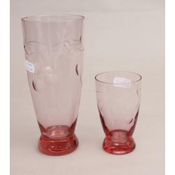 Krāsainā stikla vāzītes 2 gab.