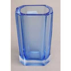 Zilā stikla zīmuļu trauks