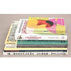 4 grāmatas un 3 žurnāli par antikvārām mēbelēm