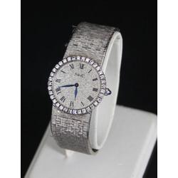 Baltā zelta sieviešu rokaspulkstenis