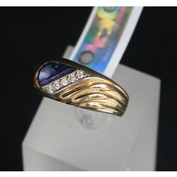 Zelta vīriešu gredzens ar briljantiem