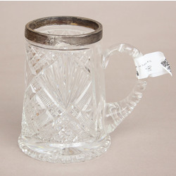 Crystal cup with silver finish