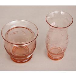 Krāsainā stikla komplekts - 2 vāzītes
