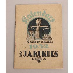 J.A. Kukurs, Piezīmju kalendārs 1932