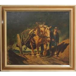 Strādnieks ar zirgu