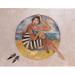 Meitene pludmalē