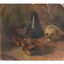 Klusā daba ar vijoli