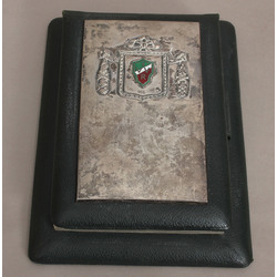 Notebook with silver finish, with the student corporation
